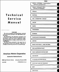 1965 Amc Rambler American Repair Shop Manual Original