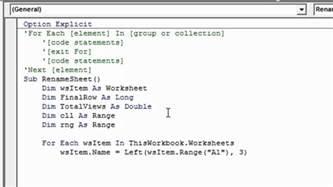 vba resume next loop excel vba for each next loop