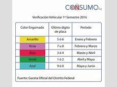 Calendario De Verificacion Vehicular