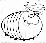 Grub Drunk Cartoon Outlined Chubby Coloring Clipart Cory Thoman Vector sketch template