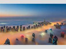 Dubai photographs show low cloud illuminated by the