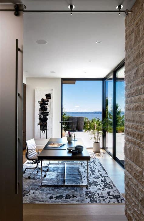 bureau de maison design prestigieuse maison moderne avec vue sur la mer à
