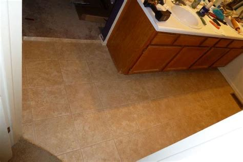 tiling a bathroom floor on plywood vinyl tiles in bathroom need 1 4 quot plywood or direct on
