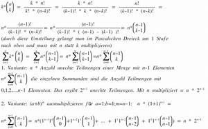 Stochastik N Berechnen : binomische formeln summen berechnen mit hilfe des ~ Themetempest.com Abrechnung