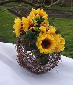 Rustic, Sunflower, Centerpiece, Yellow, U0026, Green, Decor, Fall, Table, Decorations, 16, Inch, Circumfrence