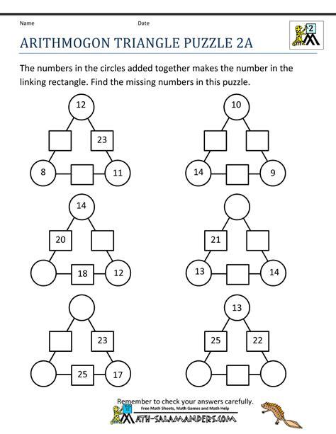 Fun Math Worksheets Newtons Crosses Puzzle 2  Matematiikka, Valmiit Pelipohjat Pinterest