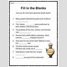 Greek Gods Facts, Worksheets & Ancient Myths For Kids