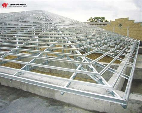 1 angle iron uni eco steel roof truss system tong yong