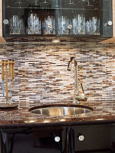 brown kitchen tiles glass cabinets a brown backsplash hgtv 1836