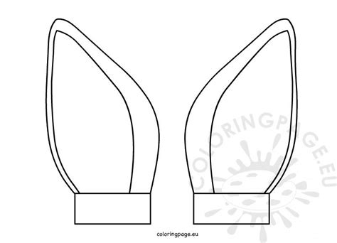 printable cat ear template cut  coloring page
