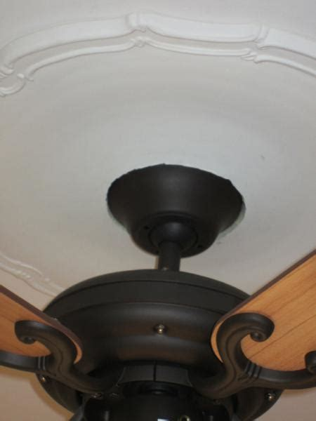 ceiling medallion and fan doityourself community forums