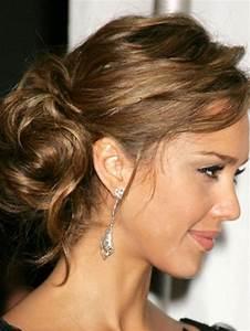 Chignon Cheveux Mi Long : coiffure cheveux mi long chignon ~ Melissatoandfro.com Idées de Décoration