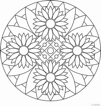 Imprimir Mandalas Colorear Flores Dibujos Divertirte Eligiendo