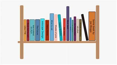 Bookshelf Clipart Drawing Bookcase Shelf Cartoon Books