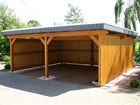 Open Timber Garages Wooden Car Ports  Home Plans
