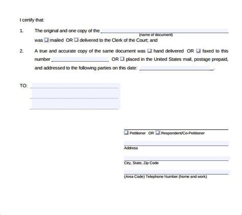 sample certificate  service template  documents