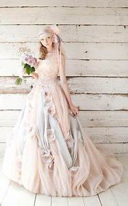 28 beautiful pastel wedding gowns With pastel wedding dress