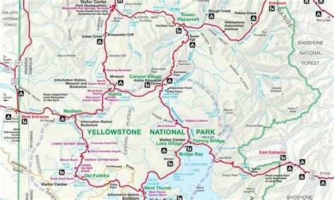 yellowstone national park official park map