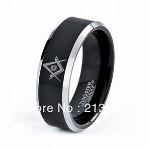 mens tungsten carbide wedding band ring 8mm 8 13 sizes With mens masonic wedding rings