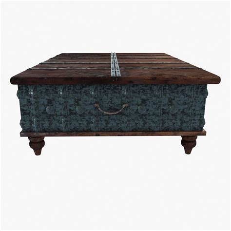 distressed trunk coffee table distressed trunk coffee table 3d model max obj 3ds fbx mtl