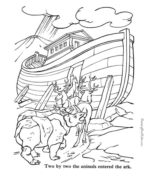 Free Bible Coloring Pages To Print Noah  Sunday School