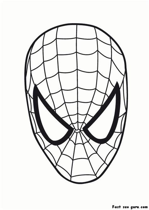 printable superheroes spiderman maske coloring pages printable coloring pages  kids