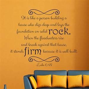 Luke 6:48 religious wall decor Divine Walls