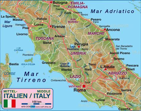 italien toskana karte