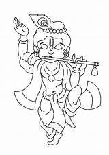 Krishna Flute Eiffel Magnificent Colornimbus sketch template