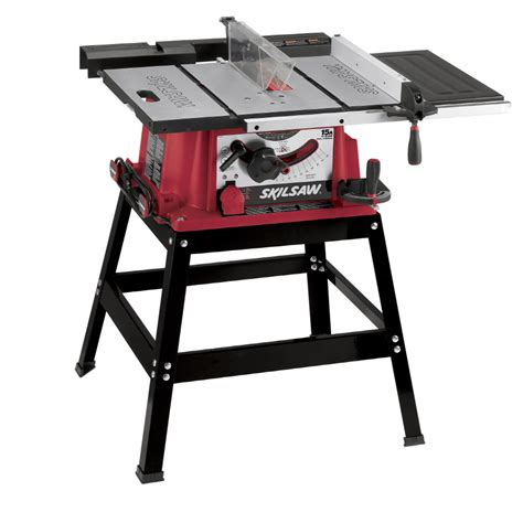 lowes portable table saw shop skil 15 amp 10 in table saw at lowes com