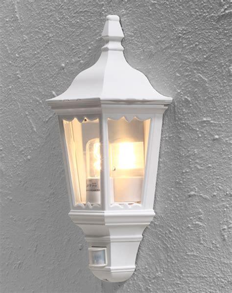 konstsmide firenze 1 light outdoor flush wall light white