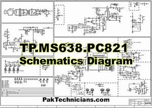 Tp Ms638 Pc821 Schematics Diagram Free Download In 2020