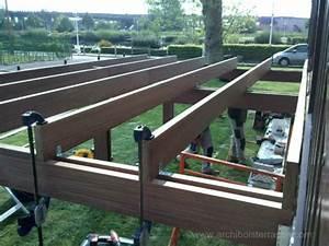 Terrasse Metallique Suspendue : terrasse bois en hauteur photos de construction et mise en oeuvre ~ Dallasstarsshop.com Idées de Décoration