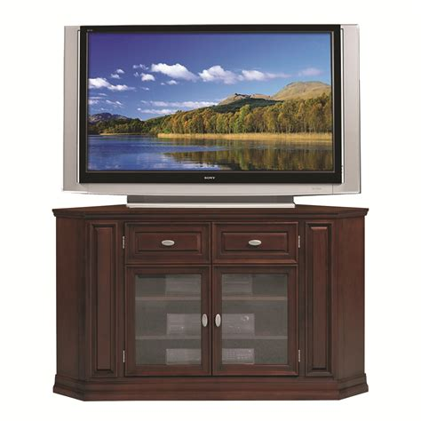 Furniture Oak Tall Corner Tv Cabinet With Doors In