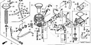 Honda Motorcycle 2004 Oem Parts Diagram For Carburetor