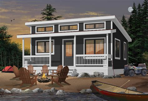 576 Sq Ft House Plan Cottage Style 1 Bedroom #126 1841