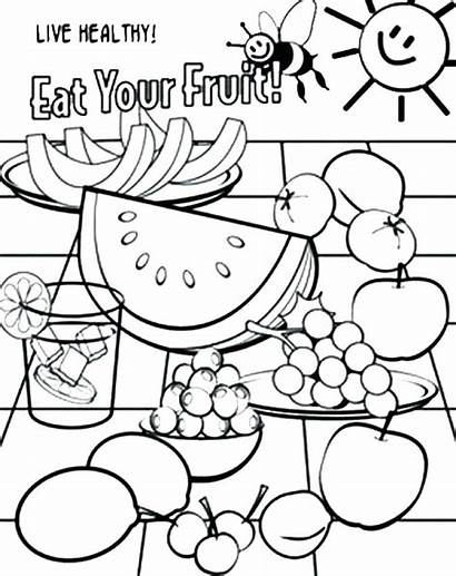 Drawing Healthy Coloring Pages Drawings Getdrawings