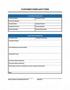 3 Free Customer plaint Form Templates  Word  Excel  PDF Formats