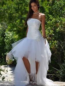 Robe Mariee Courte : robe de mariee courte devant et longue derriere ~ Melissatoandfro.com Idées de Décoration