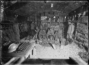 A French quartermasters store at Verdun, 1917. On the ...