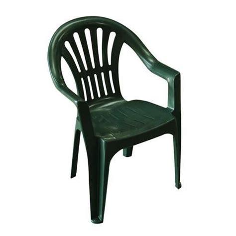 chaise de jardin en plastique lot 4 chaises jardin en plastique vert elba achat
