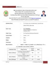 resume sle for freshers download biotech resume sle