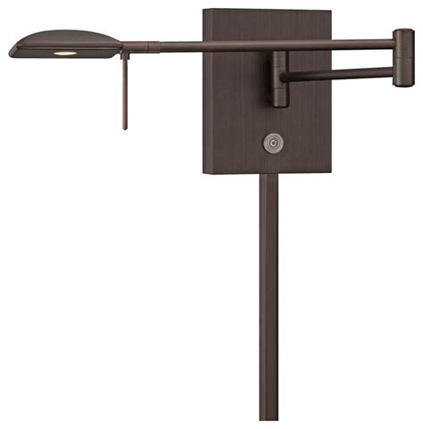 george kovacs square led bronze swing arm wall l