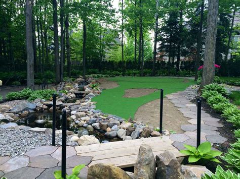 Backyard Putting Green In Artificial Grass, Synthetic Turf