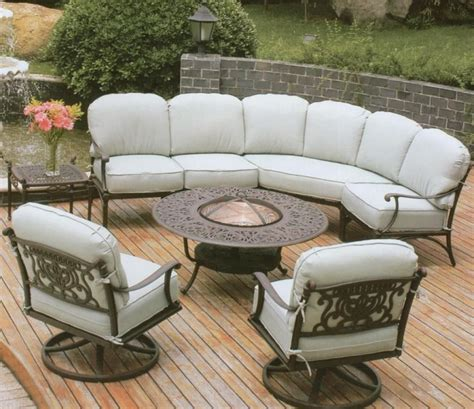 Patio Garden Furniture Sale by Beautiful Outdoor Furniture With Wrought Iron Sofa Base