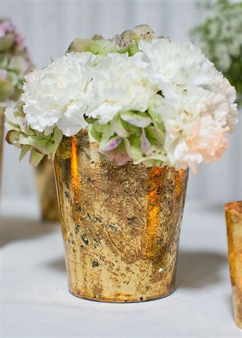 Mercury Vases Wedding - gold mercury glass floral vase gold wedding afloral