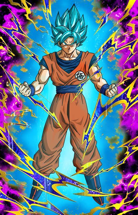 beating rage super saiyan blue goku db dokfanbattle wiki