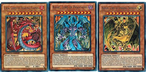 uria lord hamon raviel lc02 egyptian god cards