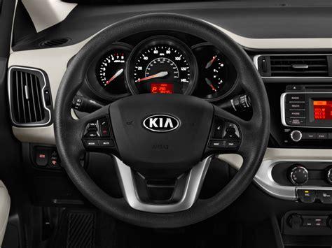 image  kia rio  door sedan auto lx steering wheel
