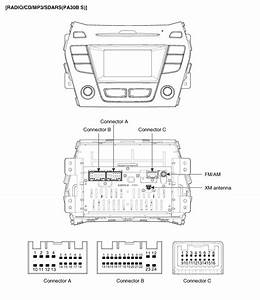 Hyundai Santa Fe  Audio Unit  Components And Components